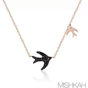 Just In🎉 Black Swallow CZ Pendant Necklace